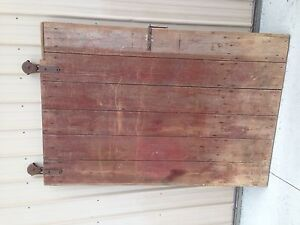 Barn Door Farm Door 79 H W Original Hardware Vintage Antique Wood Barn Door