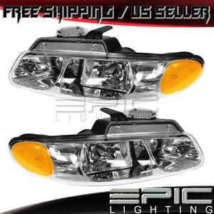 2000 Dodge Caravan Chrysler Town Country Voyager Headlights Left Right Pair