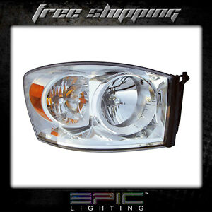 Fits 2007 09 Dodge Ram 1500 2500 3500 Headlights Headlamps Right Passenger Only