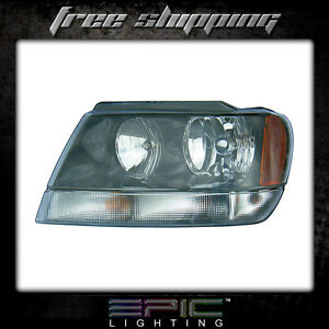 Fits 1999 04 Jeep Grand Cherokee Laredo Headlights Headlamps Left Driver Only