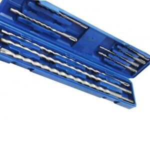 New 11 Pc Drill Bits Sds Plus Concrete Masonry Rotary Bit Set Drilling Tool Kit