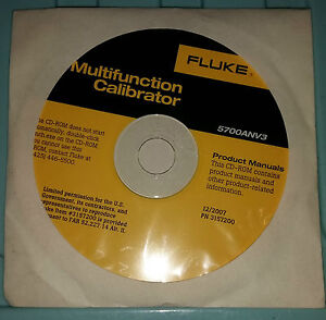Fluke 5700anv3 Multi function Calibrator Operations And Service Manual In Cd