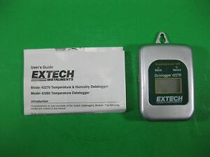 Extech Thermometer Humidity Datalogger 42270 Used