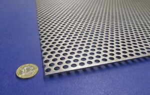 Perforated Staggered Steel Sheet 075 Thick X 24 X 24 250 Hole Dia
