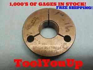 1 16 Buttress Go Only Thread Ring Gage 1 0 P d 9573 Machine Shop Tooling
