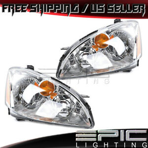 Halogen Headlights Headlamps For 2002 2004 Nissan Altima Left Right Sides Pair