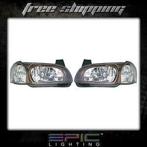 Fits 2001 Nissan Maxima 20th Anniversary Headlight Headlamp Pair Left Right