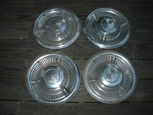Vintage Set Of 4 1958 Chevy Impala Hubcaps International Sale