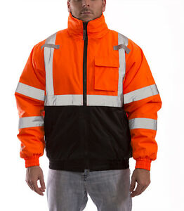Tingley Job Sight Orange Bomber Ii Jacket Hi viz Ansi Class 3 j26119