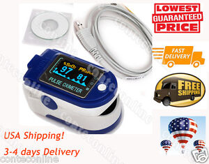 Usa Seller Fingertip Pulse Oximeter Spo2 Monitor Blood Oxygen Pc Software Case