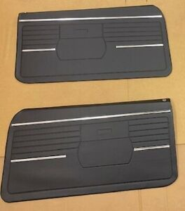 1968 Chevy Camaro Front Door Panel Set Black Z 28 Rs Ss Pace Car J3 1000
