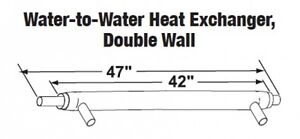 Central Boiler Water to water Heat Exchanger Double Wall 42