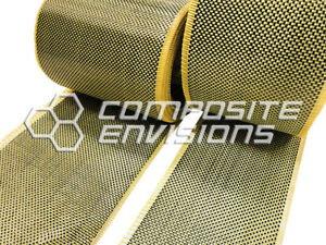 Carbon Fiber Made with Kevlar Fabric Plain Weave 5oz TAPE 6quot; $11.90