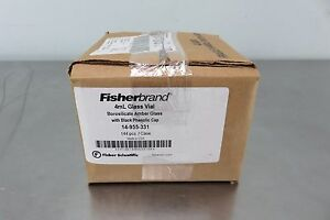 Fisherbrand 4ml Glass Vial With Black Phenolic Cap 14 955 331 New In Box