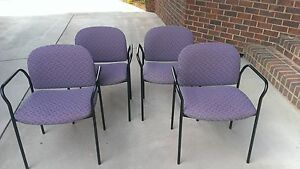 Set Of 4 Hon Stacking Guest Chair With Arms Model 4051aw