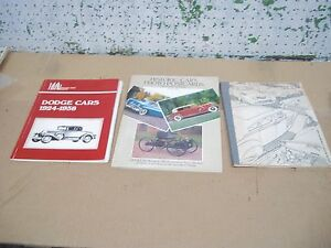 Lot American Cars Dodge Post Cards 1930 1960 1924 1939 Magazines Manual Book