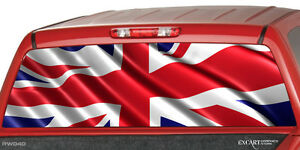Britain Waving Flag Rear Window Decal Graphic Tint Sticker Truck Suv Ute Chevy