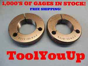2 20 Ns 3 Thread Ring Gages Go No Go 2 0 P d s 1 9675 1 9615 Tooling Tool