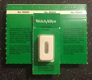 Welch Allyn 00600 u 2 5v Halogen Lamp Genuine Still In Package each