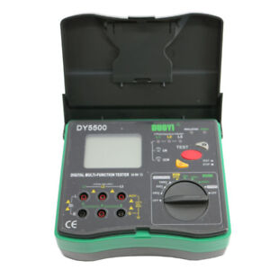 Dy5500 Multi Function Tester 2000 Mohms Earth Resistance Tester