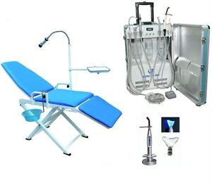 Portable Dental Delivery Unit W Air Compressor 2h Dental Chair Curing Light