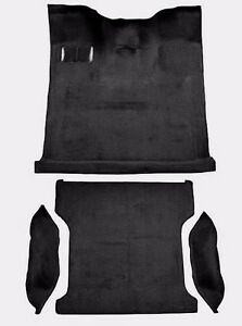 Acc Black 80 86 Ford Bronco Full Size Complete Molded Carpet With Wheel Wells