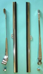 Buick 1940 8 1 2 Wiper Arms 8 1 2 Blades W 2 Acorn Nuts 8 Pg Parts List