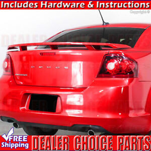 For 2008 2014 Dodge Avenger Factory Style Spoiler Rear Wing Tail Unpainted Abs