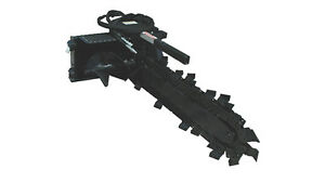 New Trencher Skid Steer Attachment 4 Dig Depth 6 Double Chain free Shipping