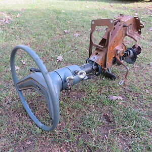 Ford Chevy Dodge Hot Rod Rat Restomod Complete Steering Column And Pedal W Nos