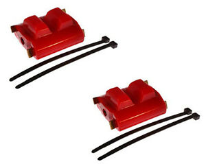 82 92 350 305 Tpi Sbc Trans Am Polyurethane Engine Motor Mounts Red