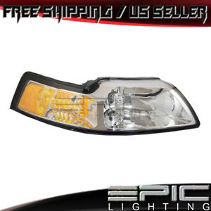 1999 2004 Ford Mustang Chrome Headlight Headlamp Right Passenger Side Rh