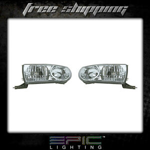 Fits 2001 02 Toyota Corolla Headlights Headlamps Pair Left Right Set