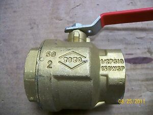 New Brass Ball Valve 2 Toyo 150 Wsp 600 Wog Red White 1 2psig Free Shipping