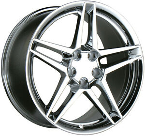 1993 2002 Chevy Chevrolet Camaro Chrome Staggered Rims Ace 5x120 65 Alloy Wheel