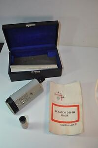 Vintage Nice Bausch Lomb Scratch Depth Gage Machinist 33 19 14 W Case