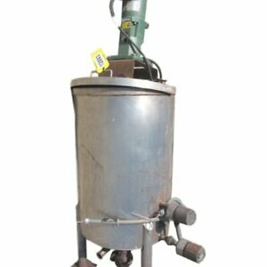 Used Stainless Steel Liquid Holding Tank With Agitator 70 Gallon Capacity