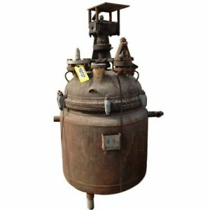 100 Gal Used Pfaudler Glass Lined Jacketed Reactor Glasteel P Series