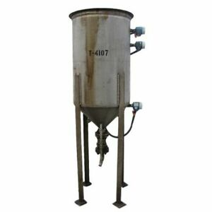 Used 70 Gallon Stainless Steel Tank With Cone Bottom
