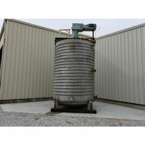 Used 6 205 Gal Stainless Steel Mix Tank