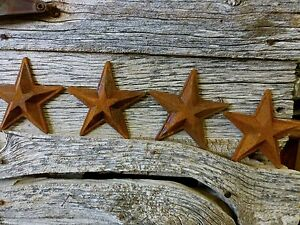 4 Antique Style Rusty Rustic Cast Iron Star Barn Decor 5 5 Vintage Metalware