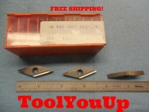 10 Pcs New Seco Carboloy Vngp 432 Carbide Inserts Fl 36 Machine Shop Tools