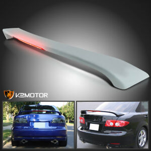 2003 2008 Mazda 6 4dr Factory Style Abs Trunk Rear Spoiler Wing Led Brake Light