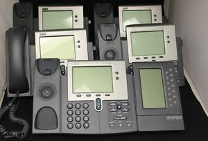 Lot Of 5 Cisco Ip 7940 Series Voip Ip Business Office Phones