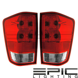 Rear Brake Tail Lights For 2004 2015 Nissan Titan Left Right Sides Pair