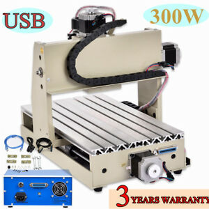 Usb 4 Axis 3020t Cnc Router Engraver 3d Cutter Drilling Milling Machine Vfd Us