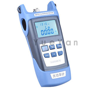 Optical Power Meter For Optical Fiber Networks Lcd Display 70 10 Dbm 7 Wavs
