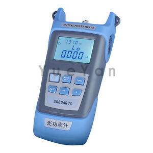 Optical Power Meter For Optical Fiber Networks Lcd Display 50 20 Dbm 7 Wavs