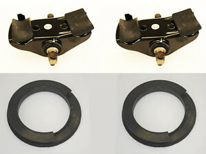 New 1965 1973 Mustang Spring Seat Saddles Coil Spring Perches Insulator Kit 4pc