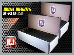 2 Boxes Black Wheel Weights 1 4 Oz Stick On Adhesive Tape 312 Oz 1248 Pieces